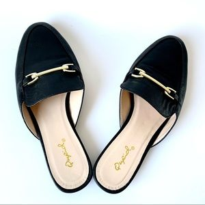 New Vegan Black Mules